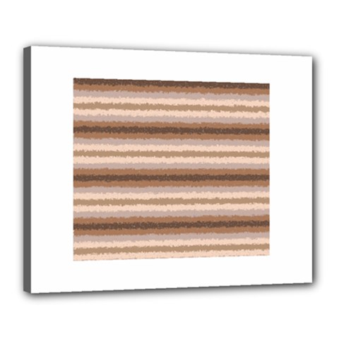 Horizontal Native American Curly Stripes   3 Canvas 20  X 16  (framed) by BestCustomGiftsForYou