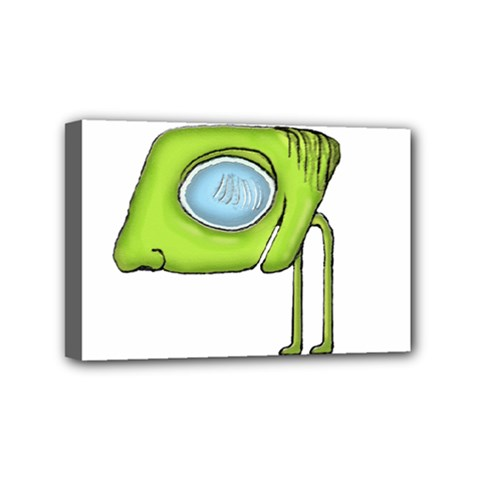 Funny Alien Monster Character Mini Canvas 6  X 4  (framed) by dflcprints