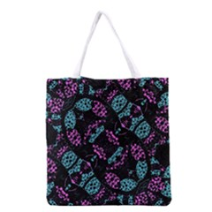 Ornate Dark Pattern  All Over Print Grocery Tote Bag by dflcprints