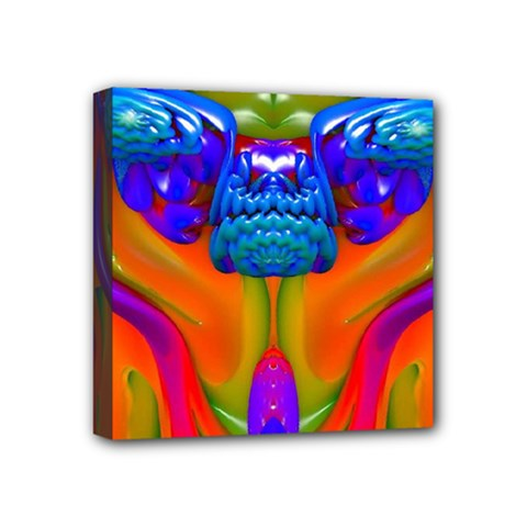 Lava Creature Mini Canvas 4  X 4  (framed) by icarusismartdesigns