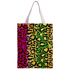 Rainbow Cheetah Abstract All Over Print Classic Tote Bag by OCDesignss