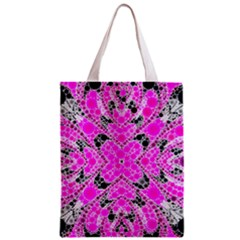 Bling Pink Black Kieledescope  All Over Print Classic Tote Bag by OCDesignss