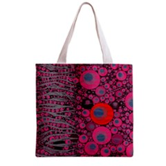 Pink Zebra Abstract All Over Print Grocery Tote Bag by OCDesignss
