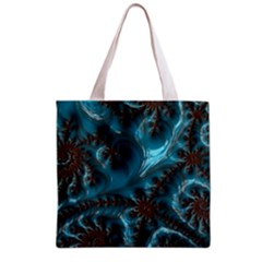 Glossy Turquoise  All Over Print Grocery Tote Bag by OCDesignss