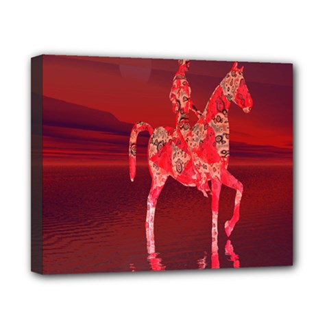 Riding At Dusk Canvas 10  X 8  (framed) by icarusismartdesigns