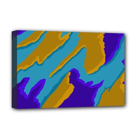 Pattern Deluxe Canvas 18  X 12  (framed) by Siebenhuehner
