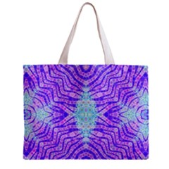Turquoise Purple Zebra Pattern  All Over Print Tiny Tote Bag by OCDesignss