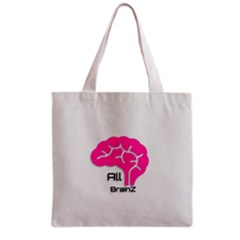 All Brains Leather  All Over Print Grocery Tote Bag by OCDesignss