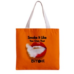 Vape Mouth Smoke Own That All Over Print Grocery Tote Bag by OCDesignss