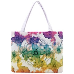 Multicolored Floral Swirls Decorative Design All Over Print Tiny Tote Bag by dflcprints