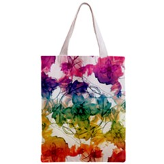 Multicolored Floral Swirls Decorative Design All Over Print Classic Tote Bag by dflcprints