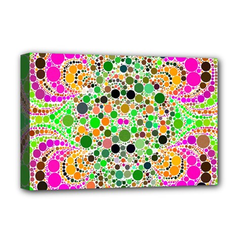 Florescent Abstract  Deluxe Canvas 18  X 12  (framed) by OCDesignss