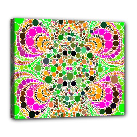 Florescent Abstract  Deluxe Canvas 24  X 20  (framed) by OCDesignss