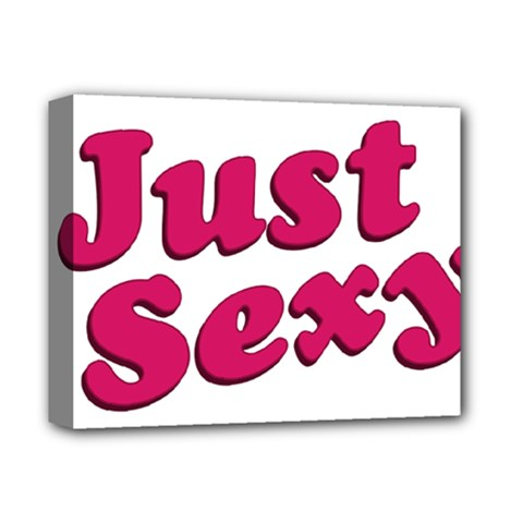 Just Sexy Typographic Quote002 Deluxe Canvas 14  X 11  (framed) by dflcprints