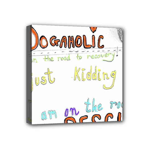 D0gaholic Mini Canvas 4  X 4  (framed) by Contest1918526