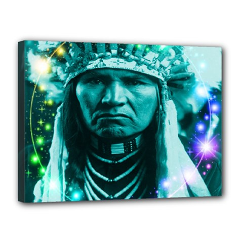 Magical Indian Chief Canvas 16  X 12  (framed) by icarusismartdesigns
