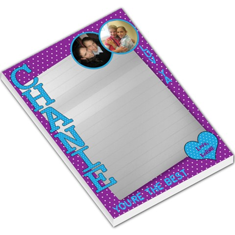 Chanie Pad By Kornie   Large Memo Pads   T5bx8tp4hwjk   Www Artscow Com