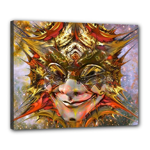 Star Clown Canvas 20  X 16  (framed) by icarusismartdesigns