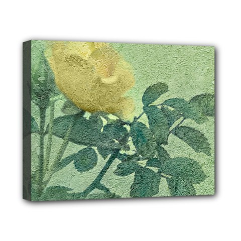Yellow Rose Vintage Style  Canvas 10  X 8  (framed) by dflcprints