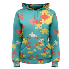 Puzzle pieces hoodie Women s Hoodie by LalyLauraFLM