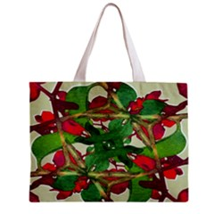 Floral Print Colorful Pattern All Over Print Tiny Tote Bag by dflcprints
