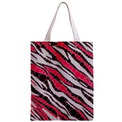Red Zebra Bling  All Over Print Classic Tote Bag by OCDesignss