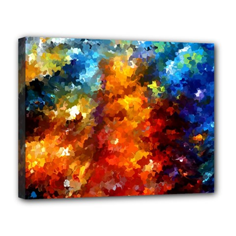Modern Composition 01 By Rafi Talby Canvas 14  X 11  (framed) by colorfulpaintins