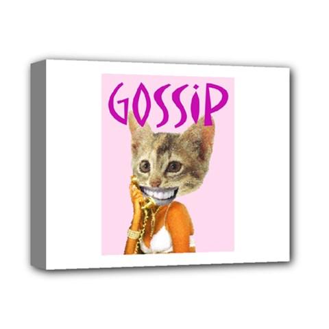 Gossip Deluxe Canvas 14  X 11  (framed) by AnimalsLol