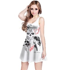 Skull Love Affair Sleeveless Dress by vividaudacity