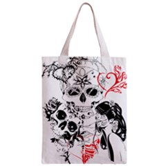 Skull Love Affair Classic Tote Bag by vividaudacity