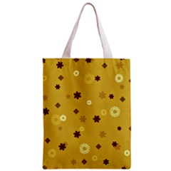 Abstract Geometric Shapes Design In Warm Tones Classic Tote Bag by dflcprints