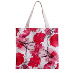Floral Print Swirls Decorative Design Grocery Tote Bag by dflcprints