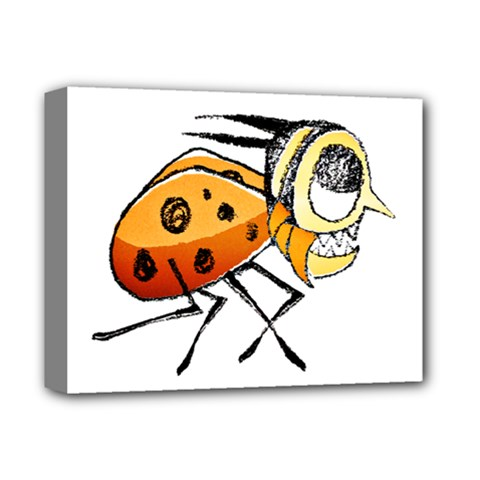 Funny Bug Running Hand Drawn Illustration Deluxe Canvas 14  X 11  (framed) by dflcprints