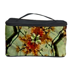 Floral Motif Print Pattern Collage Cosmetic Storage Case by dflcprints