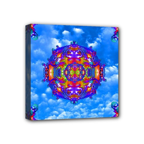 Sky Horizon Mini Canvas 4  X 4  (framed) by icarusismartdesigns