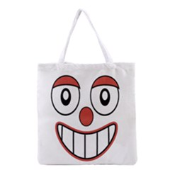 Happy Clown Cartoon Drawing Grocery Tote Bag by dflcprints