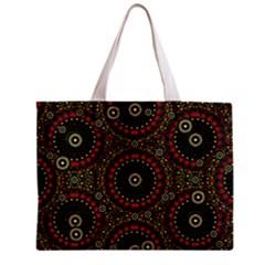 Digital Abstract Geometric Pattern In Warm Colors Tiny Tote Bag by dflcprints