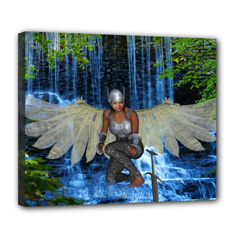 Magic Sword Deluxe Canvas 24  X 20  (framed) by icarusismartdesigns