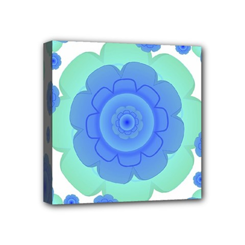 Retro Style Decorative Abstract Pattern Mini Canvas 4  X 4  (framed) by dflcprints