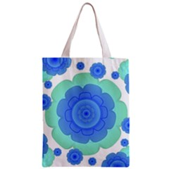 Retro Style Decorative Abstract Pattern Classic Tote Bag by dflcprints
