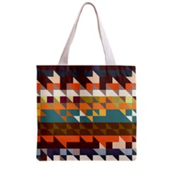 Shapes In Retro Colors Grocery Tote Bag by LalyLauraFLM