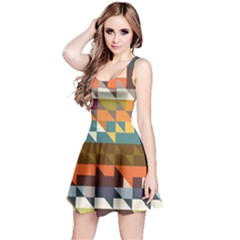 Shapes In Retro Colors Sleeveless Dress by LalyLauraFLM