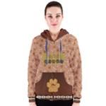 Dog zip hoody, women s - Women s Zipper Hoodie