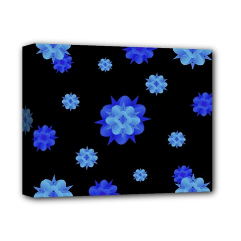 Floral Print Modern Style Pattern  Deluxe Canvas 14  X 11  (framed) by dflcprints