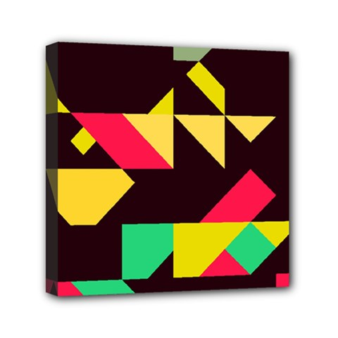 Shapes In Retro Colors 2 Mini Canvas 6  X 6  (stretched) by LalyLauraFLM