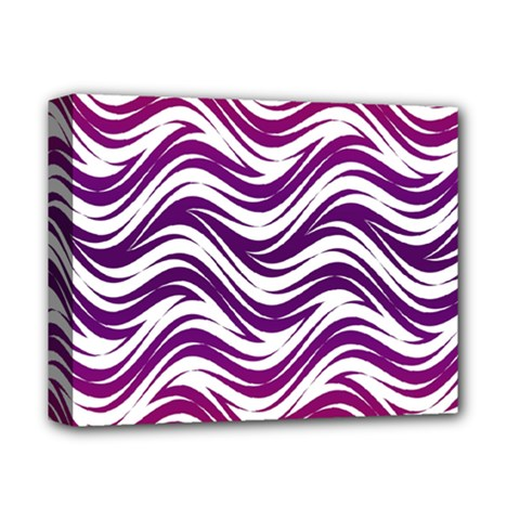 Purple Waves Pattern Deluxe Canvas 14  X 11  (stretched) by LalyLauraFLM