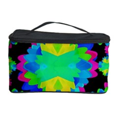 Multicolored Floral Print Geometric Modern Pattern Cosmetic Storage Case by dflcprints