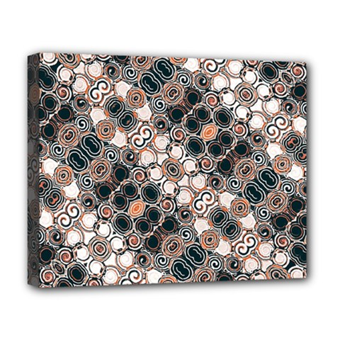 Modern Arabesque Pattern Print Deluxe Canvas 20  X 16  (framed) by dflcprints