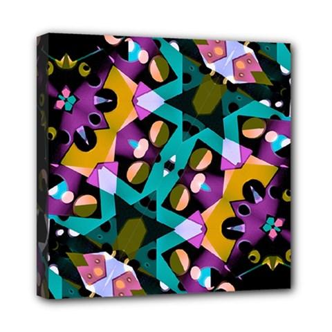 Digital Futuristic Geometric Pattern Mini Canvas 8  X 8  (framed) by dflcprints