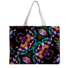 Digital Futuristic Geometric Pattern Tiny Tote Bag by dflcprints
